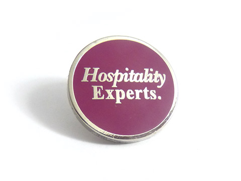 personalised enamel badge