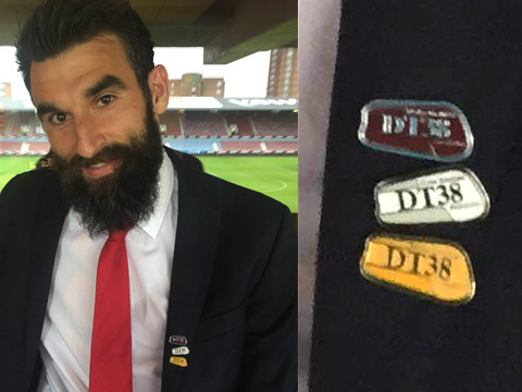 Crystal Palace captain and ambassador of DT38 foundation Mile Jedinak