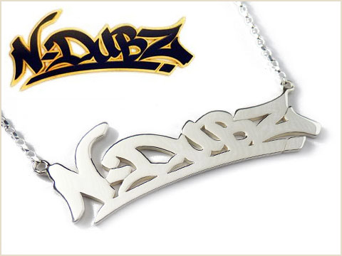 personalized silver name tag handmade for NDUBZ