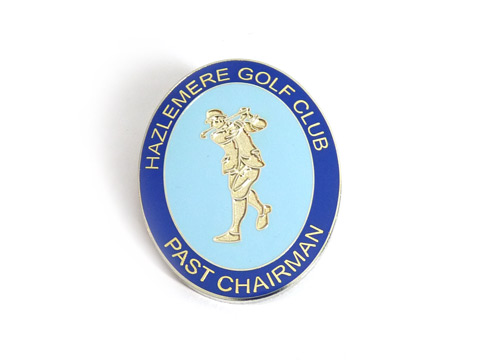 Customised enamel badges made to order for golf club.