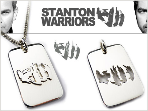 custom silver dogtags handmade for DJs and marketing events