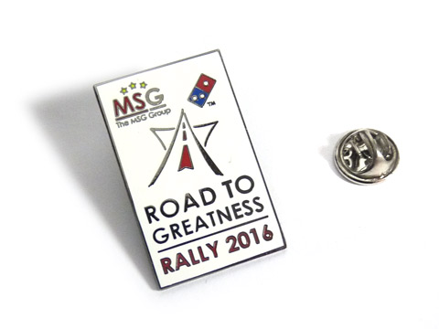 Black metal rally car hard enamel badges