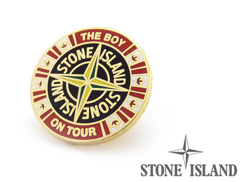 Bespoke quality enamel badges custom made for Stone Island clothing label