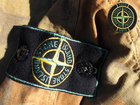 Stone Island clothing with branded patch