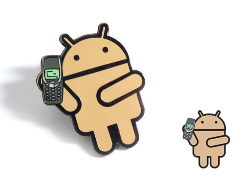 Android enamel pin badges made for the Mobile World Congress 2017