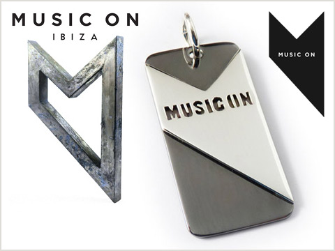 custom logo dogtag pendant handmade for branded record label Music On